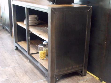 meuble cuisine en metal meuble de rangement cuisine bois m 233 tal sur mesure