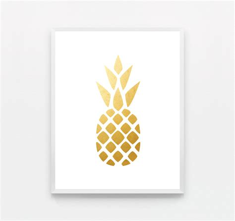 cool printable wall art wall art design ideas white framed pineapple wall art