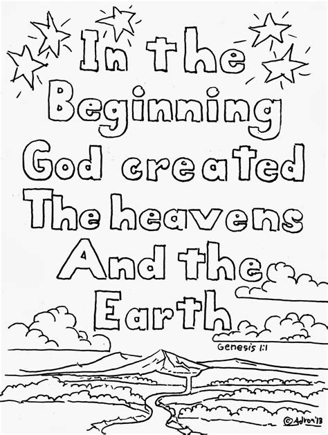 Genesis 3 Coloring Page by Coloring Pages For By Mr Adron Genesis 1 1 Coloring