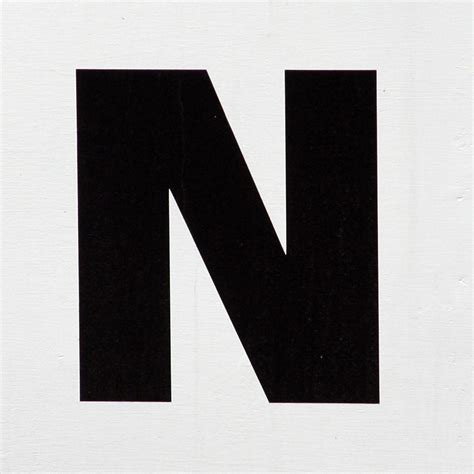 A N letter n