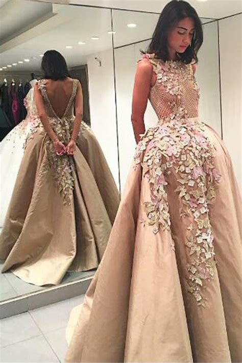 Handmade Prom Dresses - backless charming handmade prom dress cocopromdress