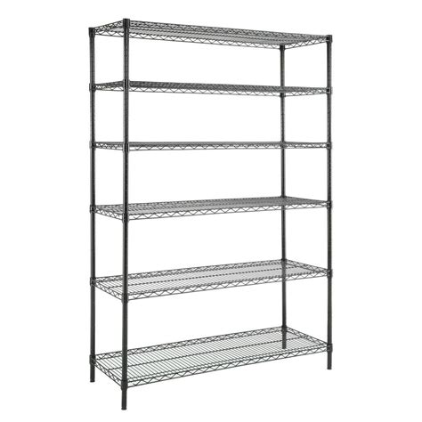 Hdx 6 Tier 48 In X 18 In X 72 In Wire Shelving Unit In Wire Shelving Racks