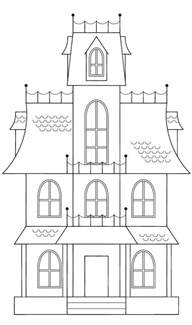 haunted house template best 25 spooky house ideas on diy
