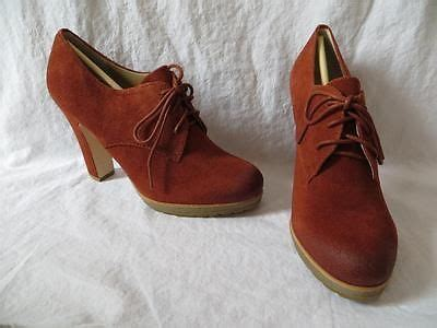 Sepatu Boots Rockers talbots cynthy vixen rust crepe sole tie suede ankle boots bootie nib 149 sz 7 5 shoes