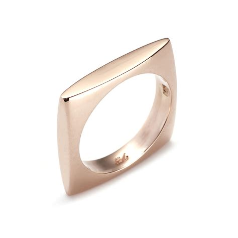 Square Rings by Square Ring Size 5 Gabriela Artigas Touch Of Modern