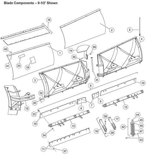 fisher snow plow parts diagram fisher snow plow xtremev blade parts