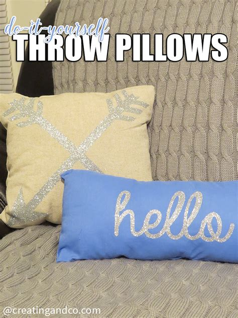 Make A Throw Pillow by Diy No Sew Throw Pillows With Glitter Applique Creating Co