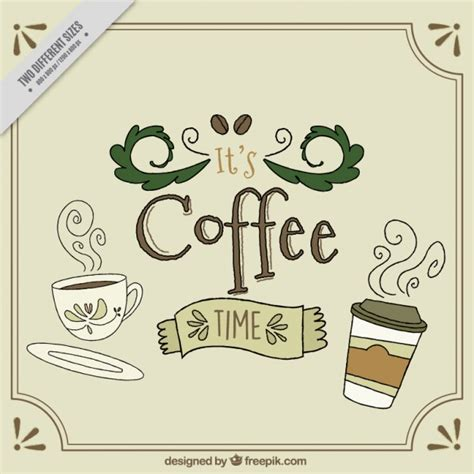coffee text wallpaper nice background with coffee time text vector free download