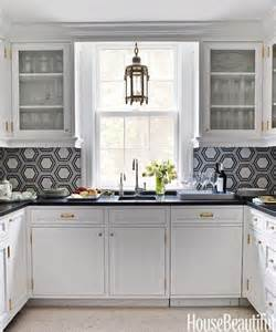 black and white kitchen backsplash kitchen with hex backsplash contemporary kitchen