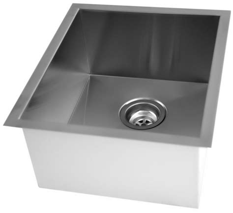 Square Undermount Kitchen Sink Acri Tec Stainless Steel Undermount Kitchen Sink With Square Contemporary Corners The Home