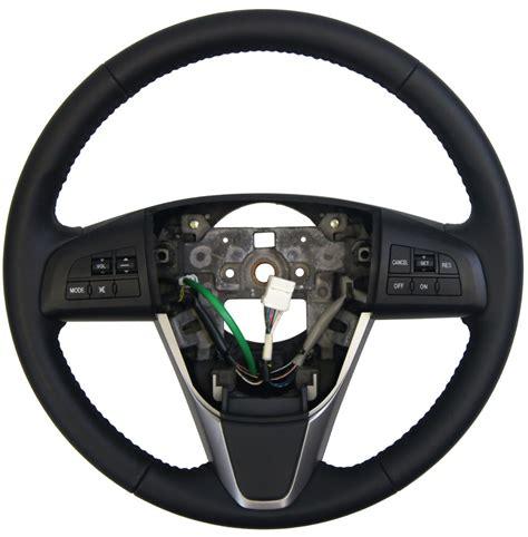 mazda  steering wheel black leather waudio cc switch gegz