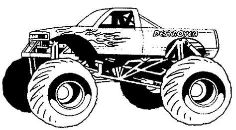 monster truck videos for kids online nonsensical monster truck outline coloring pages for kids