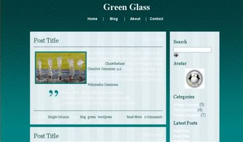 Css Green Glass Template Free Web Templates Dreamwaver Glass Website Templates