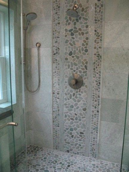 pebble tiles for bathroom 17 best ideas about river rock shower on pinterest