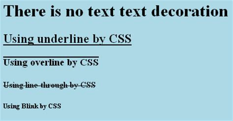 Text Decoration Blink by Make Program Easy Decorate Text Using Css