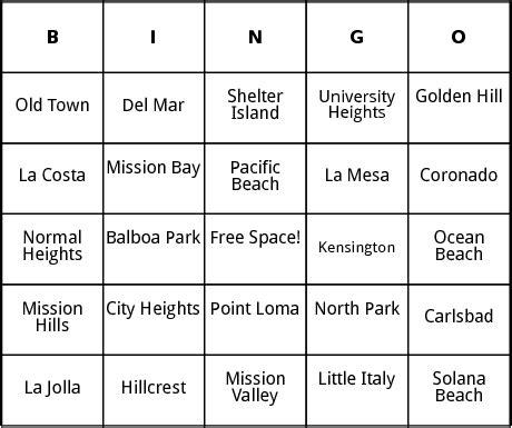 san card template san diego bingo by bingo card template