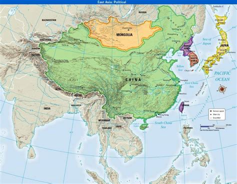 political map east asia where in the world east asia