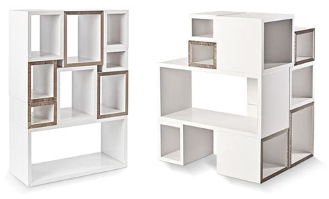 blockbox compact light weight cardboard shelving system