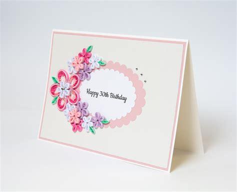 Handmade 30th Birthday Card - 30th birthday card paper paradise
