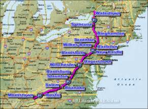 Route 81 Map i 81 interstate 81 road maps traffic news