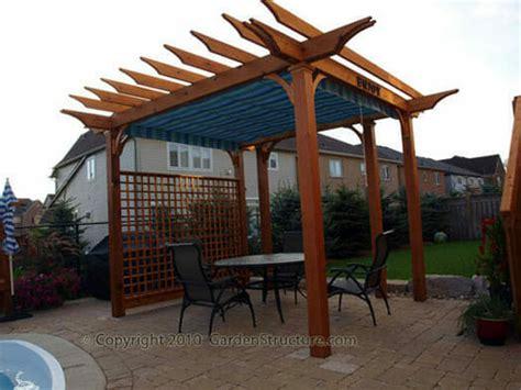 pergola with shade retractable canopy pergolas toronto a small canvas patio