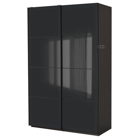 black wardrobes ikea pax wardrobe black brown uggdal grey glass 150x66x201 cm
