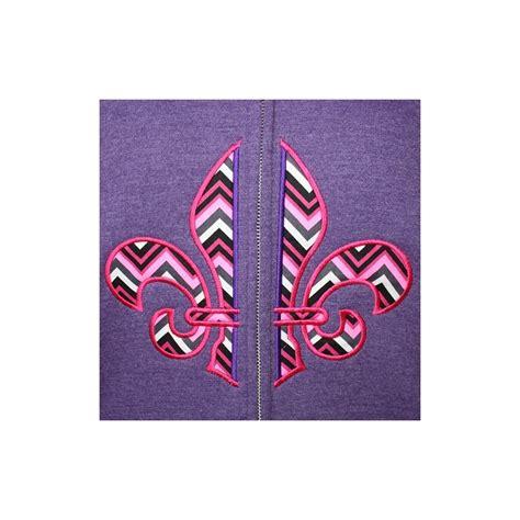 hoodie embroidery design split fleur de lis embroidery applique design zip hoodie