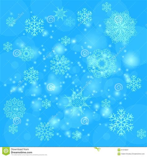 abstract snowflakes seamless pattern background royalty blue snowflakes background stock photo image 61319937