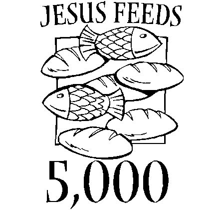 Coloring Page Jesus Feeds 5000 by Day 22 Stay Strong Energy Youth