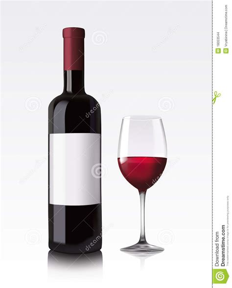 red bottle red wine bottle stock images image 18053544