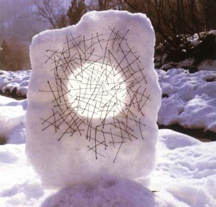 diy nature art snow sculptures  art  nature