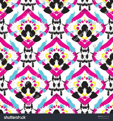 batik pattern vector illustrator hand drawn painted ikat batik seamless stock vector