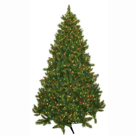 montana fir christmas tree 7 5 pre lit montana artificial tree with 700 multi color lights seasonal