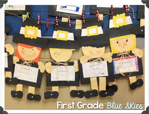 pilgrim crafts for thanksgiving pilgrim and turkey crafts grade blue