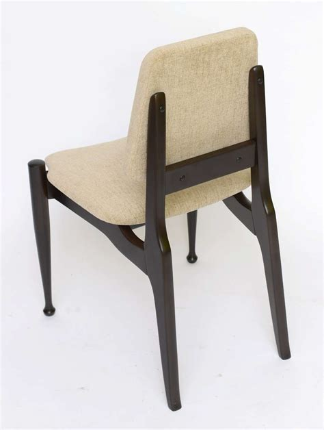 50s Dining Chairs Four Greta Grossman Style Ebonized 50s Modern Dining Chairs At 1stdibs