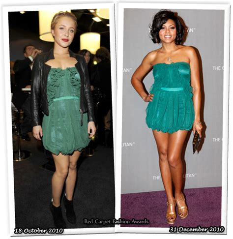 Who Wore It Better Hayden And In The And Sequin Stripe Dress by Who Wore Elizabeth Better Hayden Panettiere Or