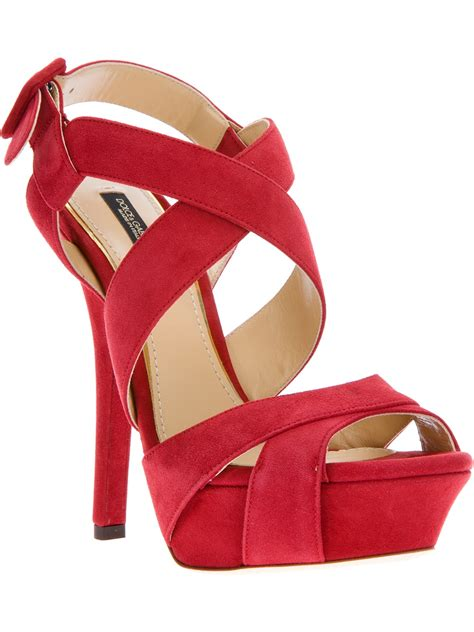 sandal photo dolce gabbana strappy sandal in lyst