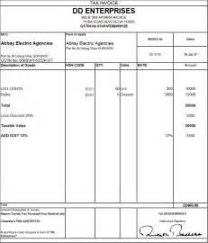 Invoice Tax Letterhead Exle Of Tax Invoice Company Letterhead Templates
