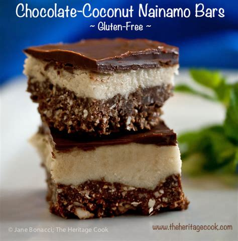 Heritage Coconut Island chocolate coconut nanaimo bars gluten free the