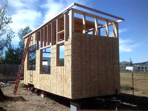 tiny house siding sheathing the first walls on our tiny house the edge of