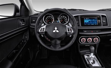 mitsubishi lancer sportback interior car and driver