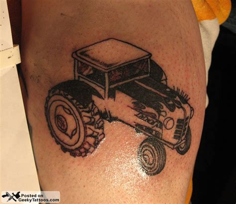 tractor tattoos farmville rod tractor geeky tattoos