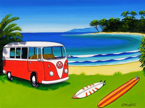 volkswagen bus beach vw bus wallpaper wallpapersafari