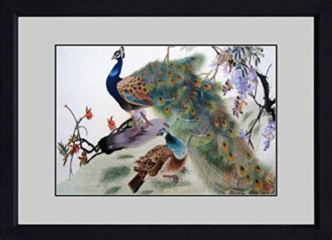 peacock silk embroidery shadowbox asian home decor king silk art 100 handmade embroidery large framed