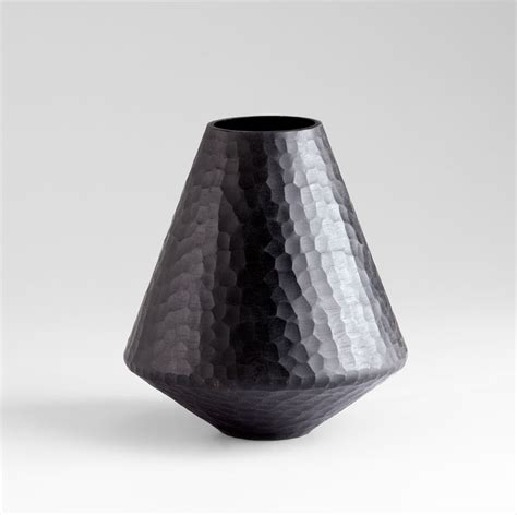 Black Glass Vase by Small Lava Black Glass Vase By Cyan Design