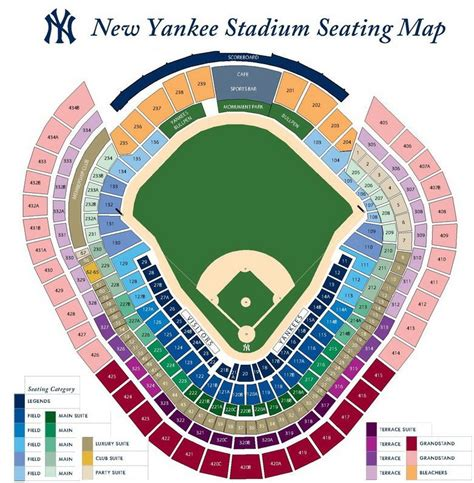 Yankee Stadium Seating Chart View Section by Yankee Stadium Seating Chart