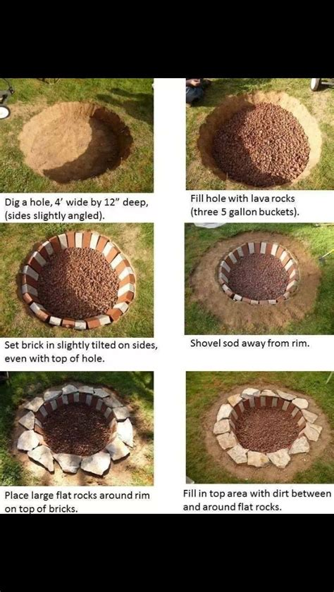 How To Make A Bonfire Pit In Your Backyard by Bonfire Pit Diy Backyards Diy And Crafts And Pits