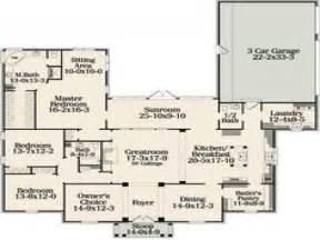 Single Story Open Floor Plans One Floor House Plans With Open Concept Best One Story House Plans One Room House Plans
