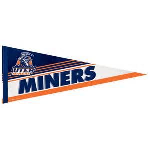 utep colors utep miners 12 x 30 premium pennant