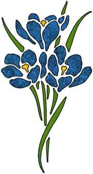 Blue Flag Flower - artbyjean paper crafts flower clip art set a22